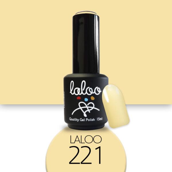 Ημιμόνιμο βερνίκι Laloo Cosmetics 15ml - N.221 Κίτρινο εσωτερικό της μπανάνας