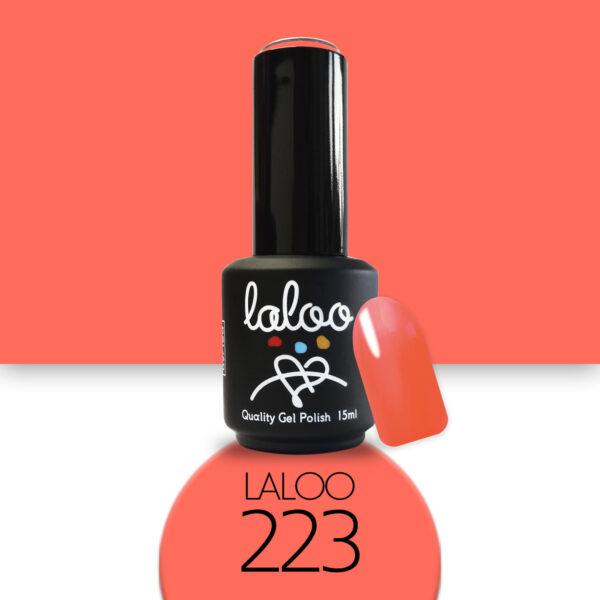 Ημιμόνιμο βερνίκι Laloo Cosmetics 15ml - N.223 Κοραλί νέον που πορτοκαλίζει