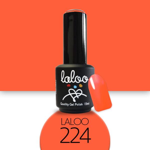 Ημιμόνιμο βερνίκι Laloo Cosmetics 15ml - N.224 Πορτοκαλί νέον
