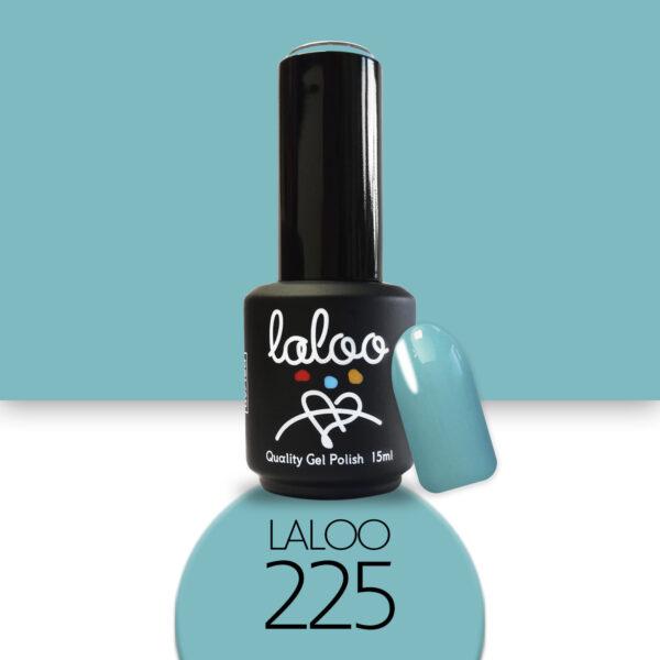 Ημιμόνιμο βερνίκι Laloo Cosmetics 15ml - N.225 Aqua σκούρο