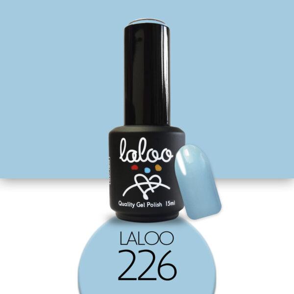 Ημιμόνιμο βερνίκι Laloo Cosmetics 15ml - N.226 Θαλασσί