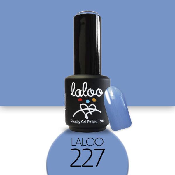 Ημιμόνιμο βερνίκι Laloo Cosmetics 15ml - N.227 Θαλασσί σκούρο
