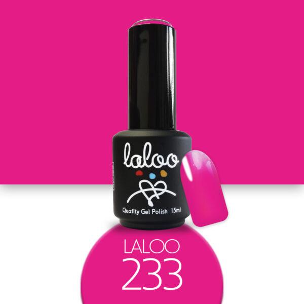 Ημιμόνιμο βερνίκι Laloo Cosmetics 15ml - N.233 Φούξια πολύ ανοιχτό νέον