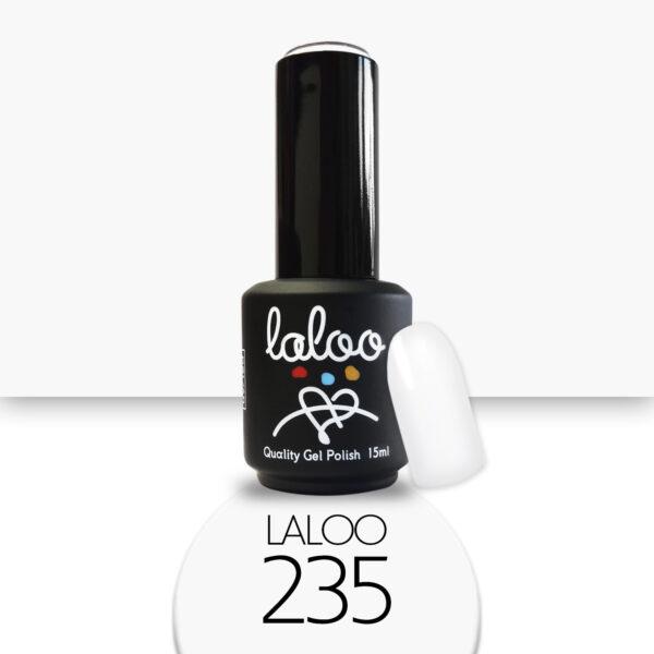 Ημιμόνιμο βερνίκι Laloo Cosmetics 15ml - N.235 Λευκό γαλακτερό του πάγου (βάση γαλλικού)