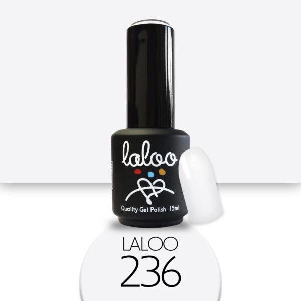Ημιμόνιμο βερνίκι Laloo Cosmetics 15ml - N.236 Λευκό γαλακτερό (βάση γαλλικού)