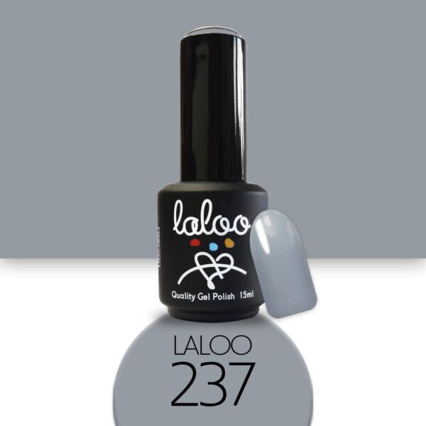 Ημιμόνιμο βερνίκι Laloo Cosmetics 15ml - N.237 Γκρι ανοιχτό