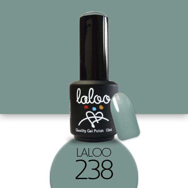 Ημιμόνιμο βερνίκι Laloo Cosmetics 15ml - N.238 Χακί πολύ ανοιχτό παλ