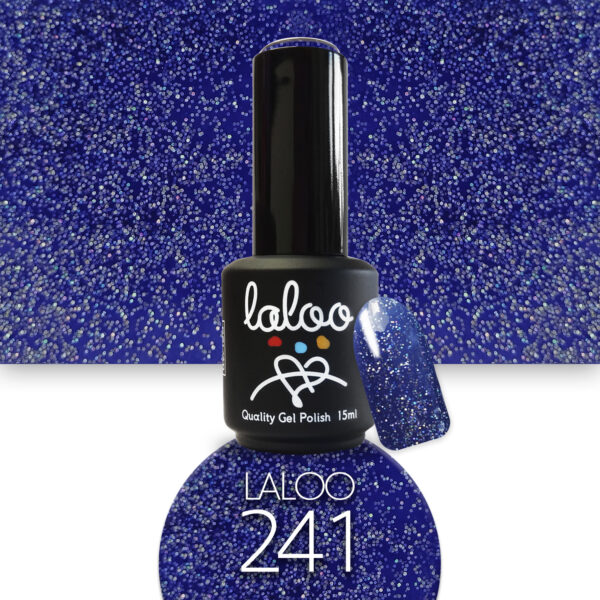 Ημιμόνιμο βερνίκι Laloo Cosmetics 15ml - N.241 Μπλε glitter