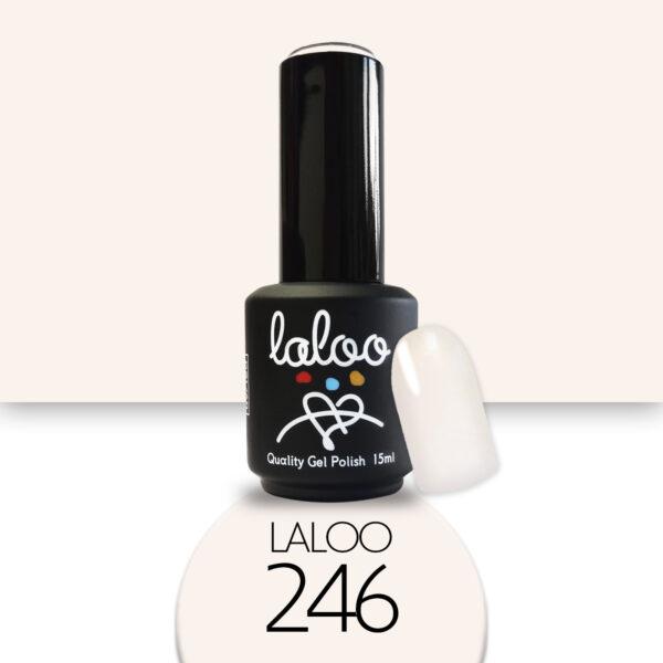 Ημιμόνιμο βερνίκι Laloo Cosmetics 15ml - N.246 Nude μπεζ ανοιχτό