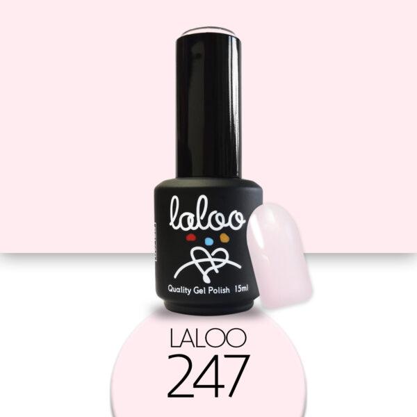 Ημιμόνιμο βερνίκι Laloo Cosmetics 15ml - N.247 Nude που ροζίζει ελαφρώς (ζαχαρί)