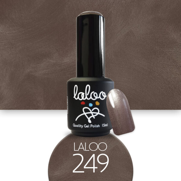 Ημιμόνιμο βερνίκι Laloo Cosmetics 15ml - N.249 Bronze μεταλλικό