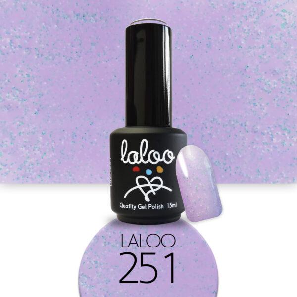 Ημιμόνιμο βερνίκι Laloo Cosmetics 15ml - N.251 Λιλά ανοιχτό pigment γαλάζιο-ροζ