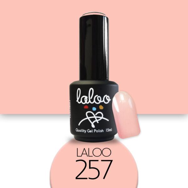 Ημιμόνιμο βερνίκι Laloo Cosmetics 15ml - N.257 Σομόν