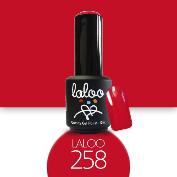 Ημιμόνιμο βερνίκι Laloo Cosmetics 15ml - N.258 Κόκκινο