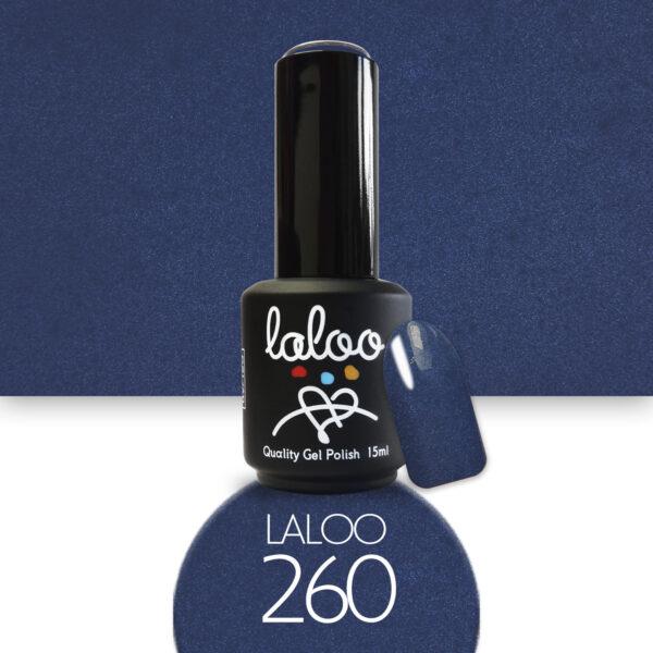 Ημιμόνιμο βερνίκι Laloo Cosmetics 15ml - N.260 Μπλε-γκρι σκούρο με ελαφρύ shimmer