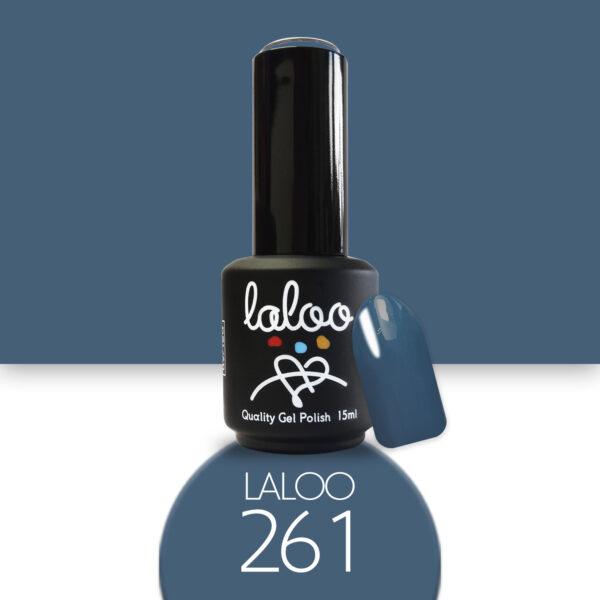 Ημιμόνιμο βερνίκι Laloo Cosmetics 15ml - N..261 Μπλε-πετρόλ ανοιχτό