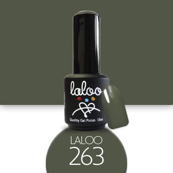 Ημιμόνιμο βερνίκι Laloo Cosmetics 15ml - N.263 Χακί
