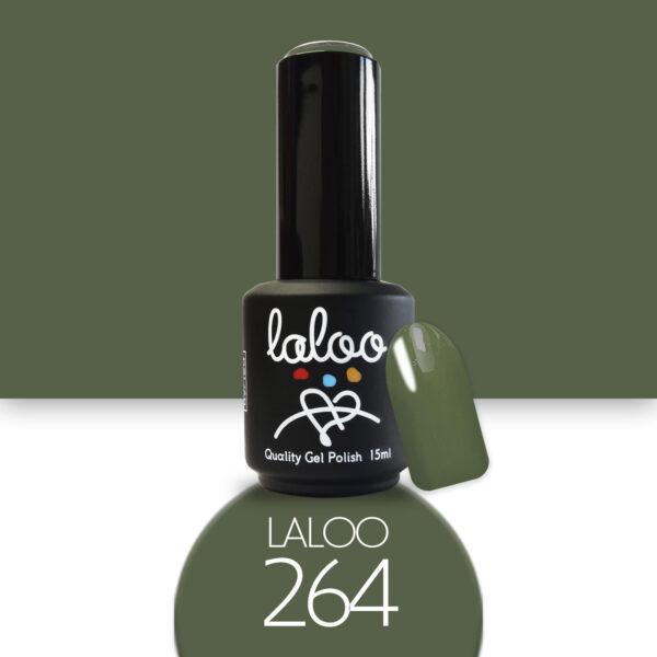 Ημιμόνιμο βερνίκι Laloo Cosmetics 15ml - N.264 Λαδί ανοιχτό