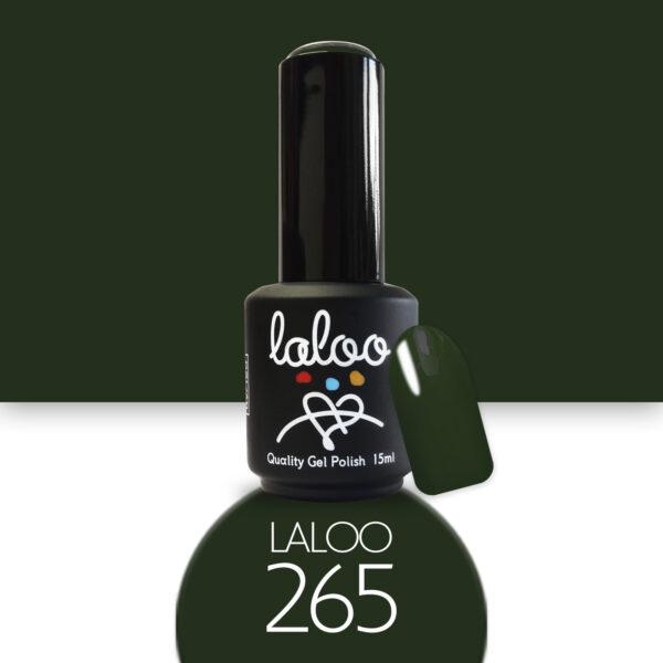 Ημιμόνιμο βερνίκι Laloo Cosmetics 15ml - N.265 Πράσινο σκούρο