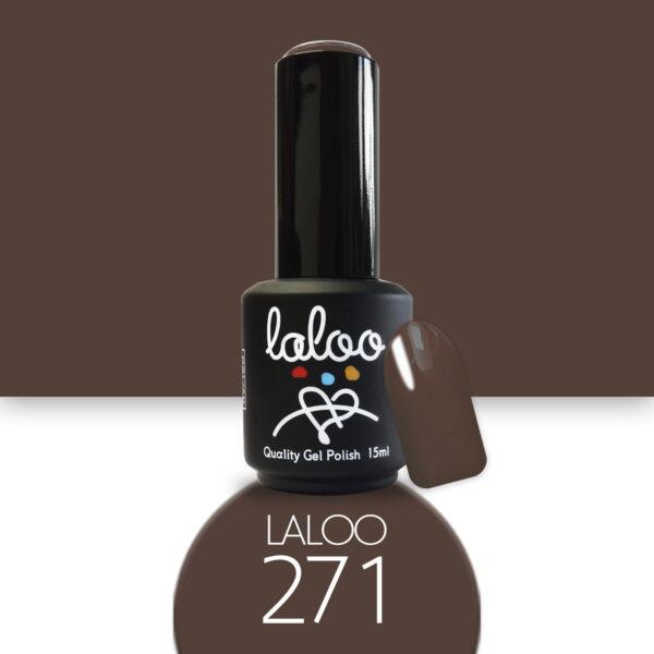 Ημιμόνιμο βερνίκι Laloo Cosmetics 15ml - N.271 Καφέ σοκολατί ανοιχτό