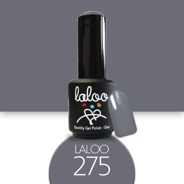 Ημιμόνιμο βερνίκι Laloo Cosmetics 15ml - N.275 Γκρι
