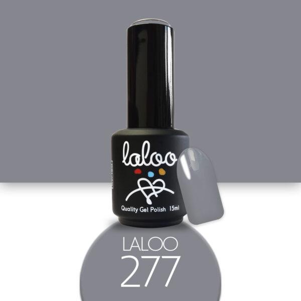 Ημιμόνιμο βερνίκι Laloo Cosmetics 15ml - N.277 Γκρι ποντικί