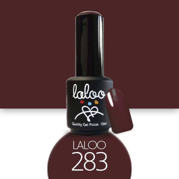 Ημιμόνιμο βερνίκι Laloo Cosmetics 15ml - N.283 Μπορντώ καφέ