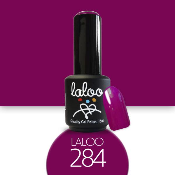 Ημιμόνιμο βερνίκι Laloo Cosmetics 15ml - N.284 Βιολετί σκούρο