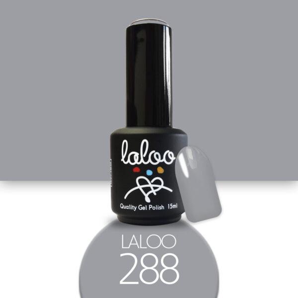 Ημιμόνιμο βερνίκι Laloo Cosmetics 15ml - N.288 Γκρι αρζάν