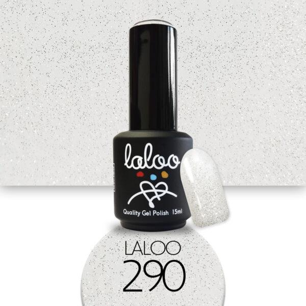 Ημιμόνιμο βερνίκι Laloo Cosmetics 15ml - N.290 Σαμπανί glitter (ασημί-χρυσοί ψιλοί κόκκοι)
