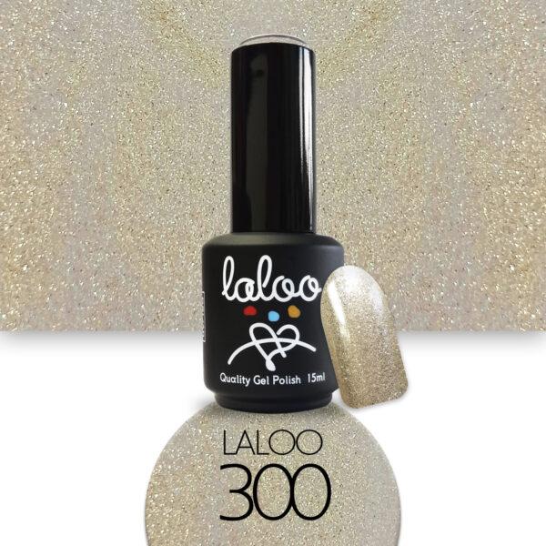 Ημιμόνιμο βερνίκι Laloo Cosmetics 15ml - N.300 Light gold (glitter ψιλόκοκκο)