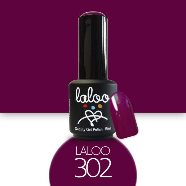 Ημιμόνιμο βερνίκι Laloo Cosmetics 15ml - N.302 Μελιτζανί κόκκινο