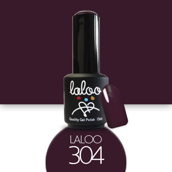 Ημιμόνιμο βερνίκι Laloo Cosmetics 15ml - N.304 Μελιτζανί μπορντώ