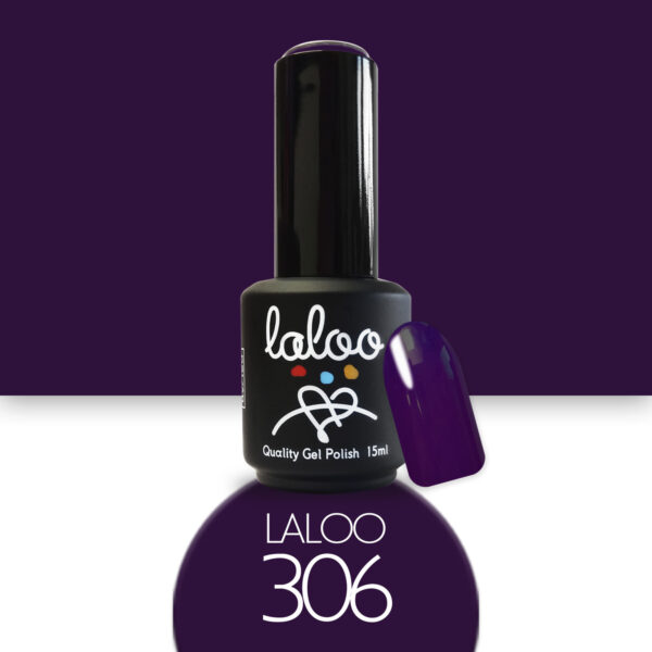 Ημιμόνιμο βερνίκι Laloo Cosmetics 15ml - N.306 Μωβ σκούρο