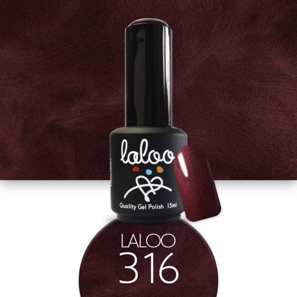 Ημιμόνιμο βερνίκι Laloo Cosmetics 15ml - N.316 Μπορντώ μεταλλικό