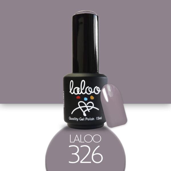 Ημιμόνιμο βερνίκι Laloo Cosmetics 15ml - N.326 Μπεζ καφέ