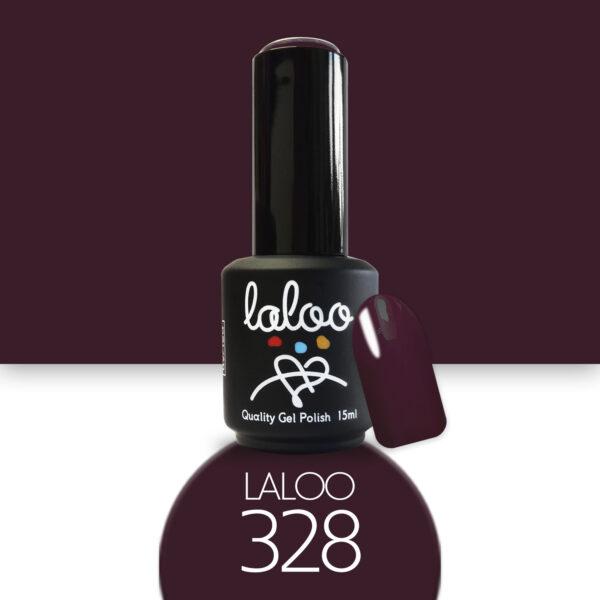 Ημιμόνιμο βερνίκι Laloo Cosmetics 15ml - N.328 Μπορντώ μελιτζανί σκούρο