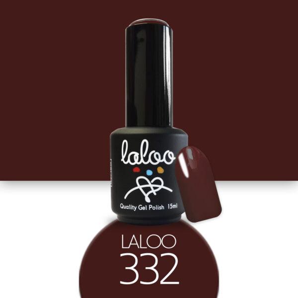Ημιμόνιμο βερνίκι Laloo Cosmetics 15ml - N.332 Κεραμιδί σκούρο