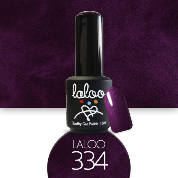Ημιμόνιμο βερνίκι Laloo Cosmetics 15ml - N.334 Μωβ μεταλλικό
