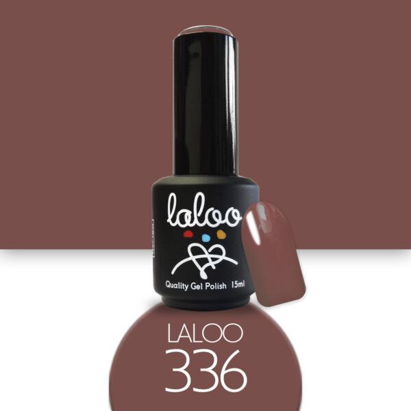 Ημιμόνιμο βερνίκι Laloo Cosmetics 15ml - N.336 Nude-καφέ που κοκκινίζει ελαφρώς
