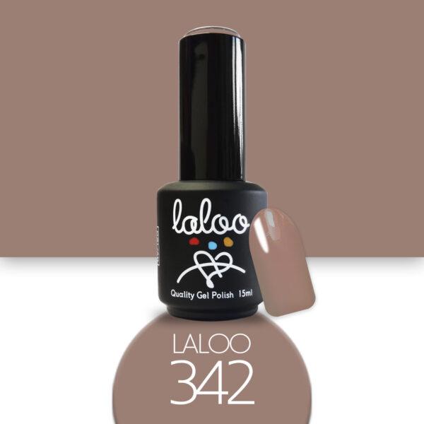 Ημιμόνιμο βερνίκι Laloo Cosmetics 15ml - N.342 Μπεζ