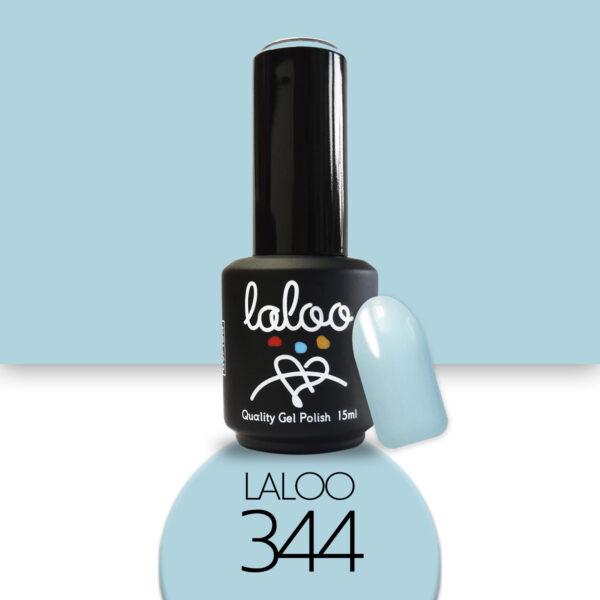 Ημιμόνιμο βερνίκι Laloo Cosmetics 15ml - N.344 Θαλασσί