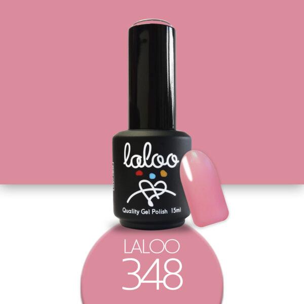 Ημιμόνιμο βερνίκι Laloo Cosmetics 15ml - N.348 Ροζ έντονο