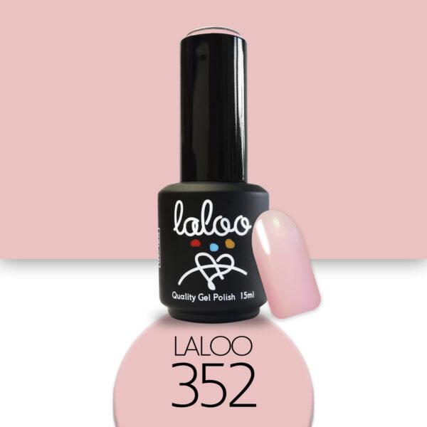 Ημιμόνιμο βερνίκι Laloo Cosmetics 15ml - N.352 Nude ροζ σκούρο