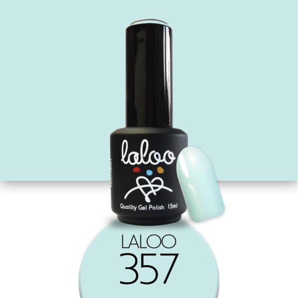 Ημιμόνιμο βερνίκι Laloo Cosmetics 15ml - N.357 Aqua παστέλ