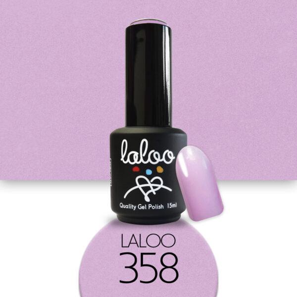 Ημιμόνιμο βερνίκι Laloo Cosmetics 15ml - N.358 Λιλά ροζ με ελαφρύ shimmer