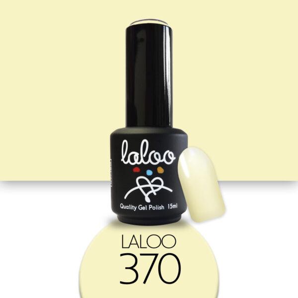Ημιμόνιμο βερνίκι Laloo Cosmetics 15ml - N.370 Κίτρινο λεμονί παστέλ