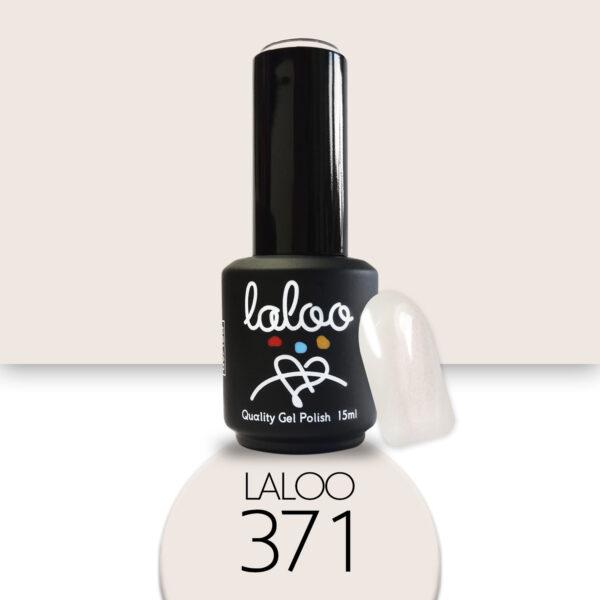 Ημιμόνιμο βερνίκι Laloo Cosmetics 15ml - N.371 Ημιδιάφανο ιριδίζον (εφέ πέρλας)