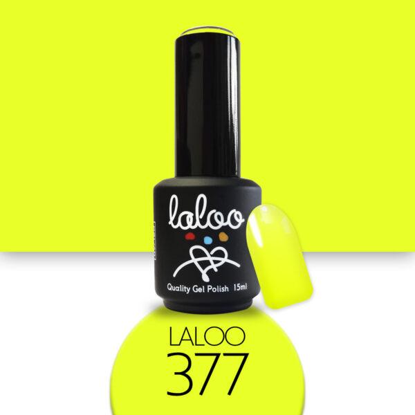 Ημιμόνιμο βερνίκι Laloo Cosmetics 15ml - N.377 Κίτρινο νέον