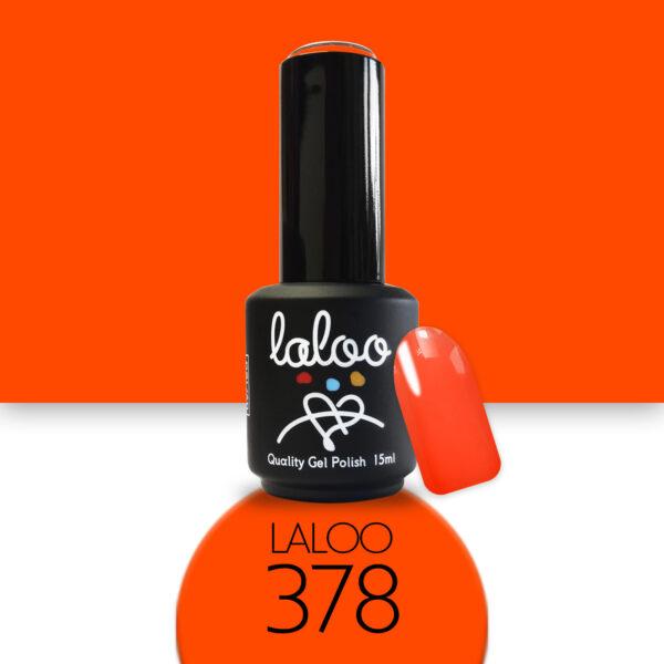 Ημιμόνιμο βερνίκι Laloo Cosmetics 15ml - N.378 Πορτοκαλί νέον